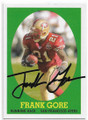 FRANK GORE SAN FRANCISCO 49ers AUTOGRAPHED FOOTBALL CARD #101520D