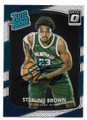 STERLING BROWN MILWAUKEE BUCKS AUTOGRAPHED ROOKIE BASKETBALL CARD #101620A