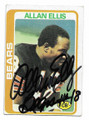ALLAN ELLIS CHICAGO BEARS AUTOGRAPHED VINTAGE FOOTBALL CARD #101620F