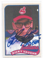 """RICKY VAUGHN"" CHARLIE SHEEN MAJOR LEAGUE CLEVELAND INDIANS AUTOGRAPHED NOVELTY CARD #101920A"