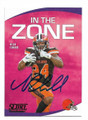 NICK CHUBB CLEVELAND BROWNS AUTOGRAPHED FOOTBALL CARD #102020B