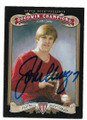 JOHN ELWAY STANFORD UNIVERSITY AUTOGRAPHED FOOTBALL CARD #102020D
