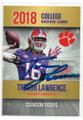 TREVOR LAWRENCE CLEMSON UNIVERSITY TIGERS AUTOGRAPHED ROOKIE FOOTBALL CARD #102320B