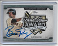 BUSTER POSEY SAN FRANCISCO GIANTS AUTOGRAPHED HANK AWARD BASEBALL CARD #102320C