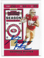 GEORGE KITTLE SAN FRANCISCO 49ers AUTOGRAPHED FOOTBALL CARD #102420A