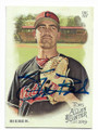 SHANE BIEBER CLEVELAND INDIANS AUTOGRAPHED BASEBALL CARD #102520E