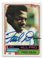 FRED DEAN SAN DIEGO CHARGERS AUTOGRAPHED VINTAGE FOOTBALL CARD #102620D
