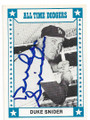 DUKE SNIDER BROOKLYN DODGERS AUTOGRAPHED VINTAGE BASEBALL CARD #102620E
