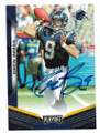 DREW BREES SAN DIEGO CHARGERS AUTOGRAPHED FOOTBALL CARD #102720C