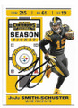 JUJU SMITH-SCHUSTER PITTSBURGH STEELERS AUTOGRAPHED FOOTBALL CARD #102920A