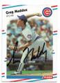 GREG MADDUX CHICAGO CUBS AUTOGRAPHED VINTAGE BASEBALL CARD #103020C