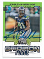 KAM CHANCELLOR SEATTLE SEAHAWKS AUTOGRAPHED FOOTBALL CARD #103020D