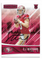 CJ BEATHARD SAN FRANCISCO 49ers AUTOGRAPHED ROOKIE FOOTBALL CARD #103020E