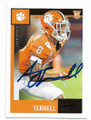 AJ TERRELL CLEMSON TIGERS AUTOGRAPHED ROOKIE FOOTBALL CARD #110520C