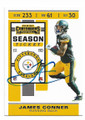 JAMES CONNER PITTSBURGH STEELERS AUTOGRAPHED FOOTBALL CARD #111120C
