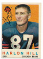 HARLON HILL CHICAGO BEARS AUTOGRAPHED VINTAGE FOOTBALL CARD #111520B