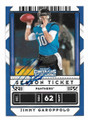 JIMMY GAROPPOLO EASTERN ILLINOIS PANTHERS AUTOGRAPHED FOOTBALL CARD #111620A