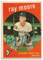 RAY MOORE CHICAGO WHITE SOX AUTOGRAPHED VINTAGE BASEBALL CARD #111620F