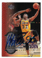 MAGIC JOHNSON LOS ANGELES LAKERS AUTOGRAPHED BASKETBALL CARD #111820E