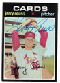 JERRY REUSS ST LOUIS CARDINALS AUTOGRAPHED VINTAGE BASEBALL CARD #111920B