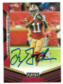 MARQUISE GOODWIN SAN FRANCISCO 49ers AUTOGRAPHED FOOTBALL CARD #112020B