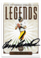 TERRY BRADSHAW PITTSBURGH STEELERS AUTOGRAPHED FOOTBALL CARD #112020D