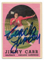 JIMMY CARR CHICAGO CARDINALS AUTOGRAPHED VINTAGE ROOKIE FOOTBALL CARD #112020E