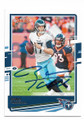 RYAN TANNEHILL TENNESSEE TITANS AUTOGRAPHED FOOTBALL CARD #112120C