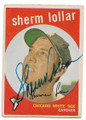 SHERM LOLLAR CHICAGO WHITE SOX AUTOGRAPHED VINTAGE BASEBALL CARD #112220A