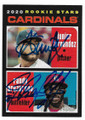 JUNIOR FERNANDEZ & RANDY AROZARENA ST LOUIS CARDINALS DOUBLE AUTOGRAPHED ROOKIE BASEBALL CARD #112320A