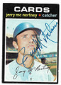 JERRY Mc NERTNEY ST LOUIS CARDINALS AUTOGRAPHED VINTAGE BASEBALL CARD #112420C