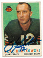 ZEKE BRATKOWSKI CHICAGO BEARS AUTOGRAPHED VINTAGE FOOTBALL CARD #112420D