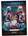 CHANDLER JONES & PATRICK PETERSON ST LOUIS CARDINALS DOUBLE AUTOGRAPHED FOOTBALL CARD #112420F