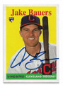 JAKE BAUERS CLEVELAND INDIANS AUTOGRAPHED ROOKIE BASEBALL CARD #112520C