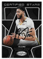 ANTHONY DAVIS NEW ORLEANS PELICANS AUTOGRAPHED BASKETBALL CARD #112720D