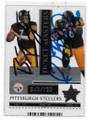 BEN ROETHLISBERGER & JEROME BETTIS PITTSBURGH STEELERS DOUBLE AUTOGRAPHED FOOTBALL CARD #112820A