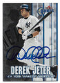 DEREK JETER NEW YORK YANKEES AUTOGRAPHED BASEBALL CARD #112820F