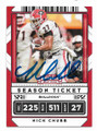 NICK CHUBB CLEVELAND BROWNS AUTOGRAPHED FOOTBALL CARD #120220D