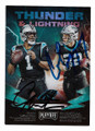 CAM NEWTON & CHRISTIAN McCAFFREY CAROLINA PANTHERS DOUBLE AUTOGRAPHED FOOTBALL CARD #120520C
