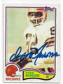 OZZIE NEWSOME CLEVELAND BROWNS AUTOGRAPHED VINTAGE FOOTBALL CARD #120620D
