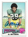 ALVIN MATTHEWS GREEN BAY PACKERS AUTOGRAPHED VINTAGE FOOTBALL CARD #121120B