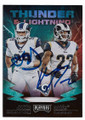 AARON DONALD & MARCUS PETERS LOS ANGELES RAMS DOUBLE AUTOGRAPHED FOOTBALL CARD #122020F