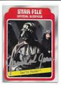 JAMES EARL JONES AUTOGRAPHED VINTAGE STAR WARS CARD #122220F