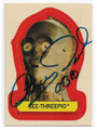 ANTHONY DANIELS STAR WARS C-3PO AUTOGRAPHED VINTAGE STICKER & PUZZLE BACK STAR WARS CARD #122420B