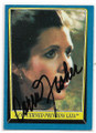 CARRIE FISHER PRINCESS LEIA AUTOGRAPHED VINTAGE STAR WARS CARD #122420C