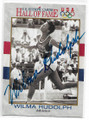 WILMA RUDOLPH OLYMPIC TRACK & FIELD AUTOGRAPHED OLYMPICS CARD #10721F