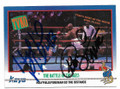EVANDER HOLYFIELD & GEORGE FOREMAN BOUBLE AUTOGRAPHED VINTAGE BOXING CARD #10921A