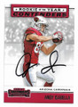 ANDY ISABELLA ARIZONA CARDINALS AUTOGRAPHED ROOKIE FOOTBALL CARD #11321A