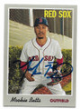 MOOKIE BETTS BOSTON RED SOX AUTOGRAPHED BASEBALL CARD #11321D