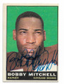 BOBBY MITCHELL CLEVELAND BROWNS AUTOGRAPHED VINTAGE FOOTBALL CARD #11321E